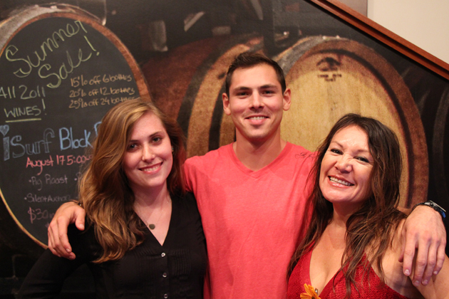 Allie Grant, left, Max Kaffel and Isa Folkes of Pali Wine Co.