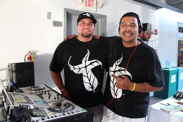 Janz Garcia, left, and DJ Sparx support iSurf with a blend of pop, soul and electronic tunes.