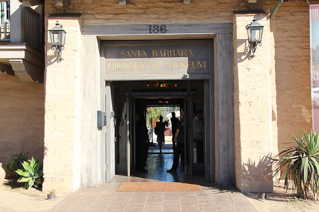 Entryway into the Santa Barbara Historical Museum.
