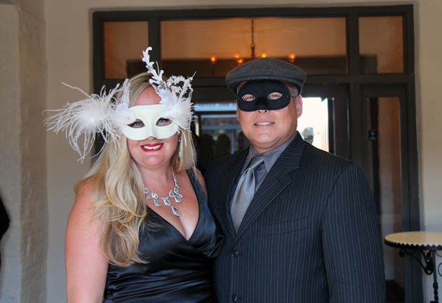 Dacia Harwood, media consultant/event planner for the Santa Barbara Historical Museum, with husband Riley.