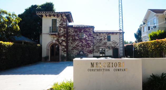 Melchiori Construction's offices on De la Vina Street in Santa Barbara have been deserted since the firm filed for Chapter 7 bankruptcy last month. Company president Mark Melchiori is the subject of a criminal probe, according to the Santa Barbara County Sheriff's Department. (Lara Cooper / Noozhawk photo)