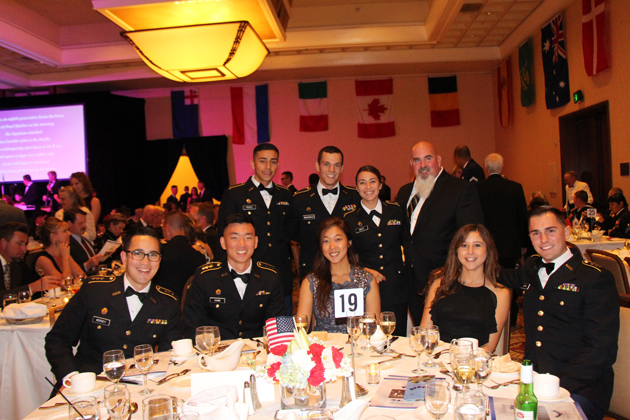 Soldiers and family members were all smiles at Saturday's Military Ball.