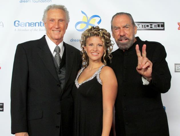 From left, Bill Medley of the Righteous Brothers with daughter McKenna Medley, and Humanitarian honoree John Paul DeJoria.