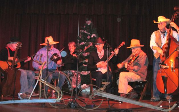It was an old-time country music jam at the Light Up the Western Sky benefit.