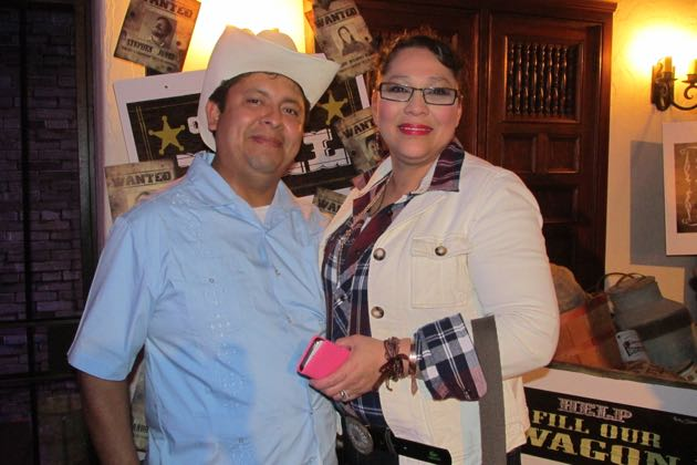 Sarah House supporters Sandra Carbajal and Rene Herrerra.