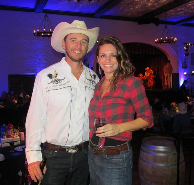 Eric Foote and Rachel Hopsicker were ready to cowboy up at the fundraiser.