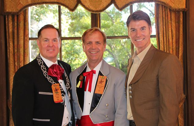 From left, past El Presidente Tim Taylor, 2014 El Presidente Dennis Rickard and Music Academy of the West president Scott Reed.