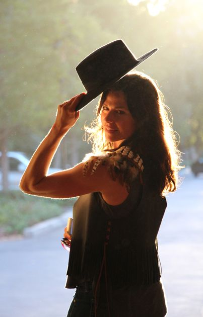 Stephanie Sanders tips her hat to a great day at the Music Academy of the West.