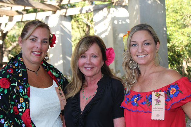 From left, Bonnie Keinath, Old Spanish Days staff, Lorri Lynch and Malisa Harrison, Old Spanish Days associate director.
