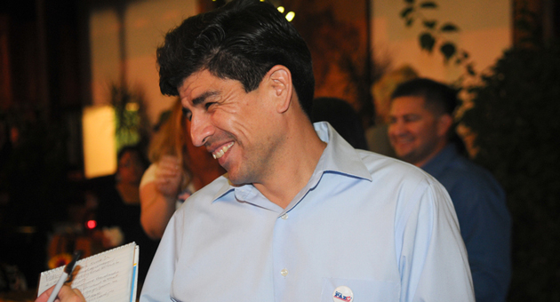 Pedro Paz was one of three candidates who won seats on the Santa Barbara Unified School District board on Tuesday. (Lara Cooper / Noozhawk photo)