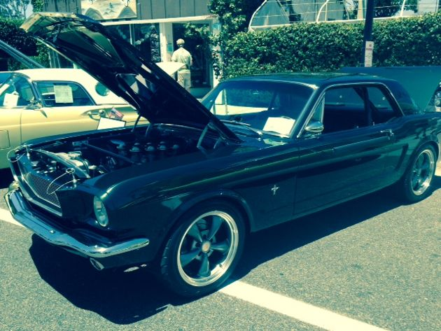 No car show is complete without a classic Ford Mustang. (Rochelle Rose / Noozhawk photo)