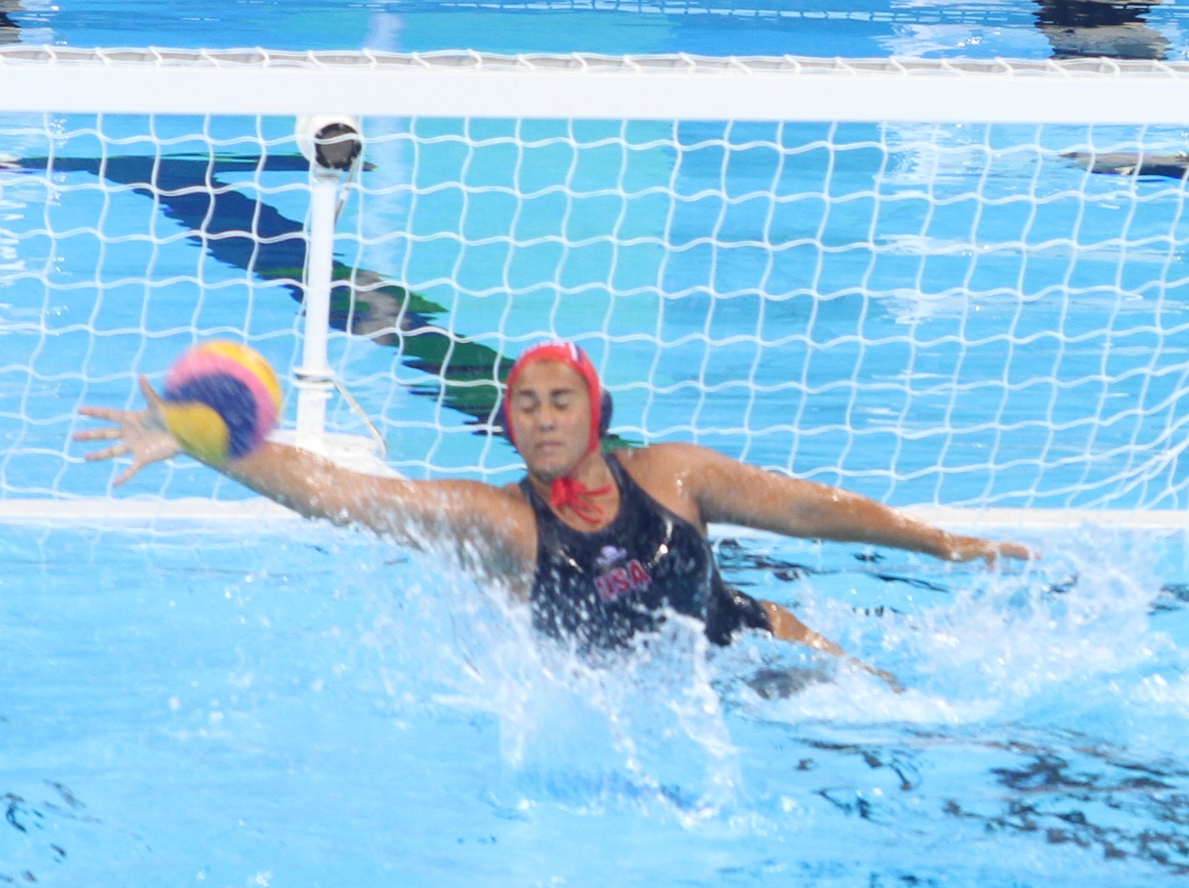 Sami Hill makes a save during game at the Rio Olympics. Hill, a Dos Pueblos graduate, won a gold medal with Team USA