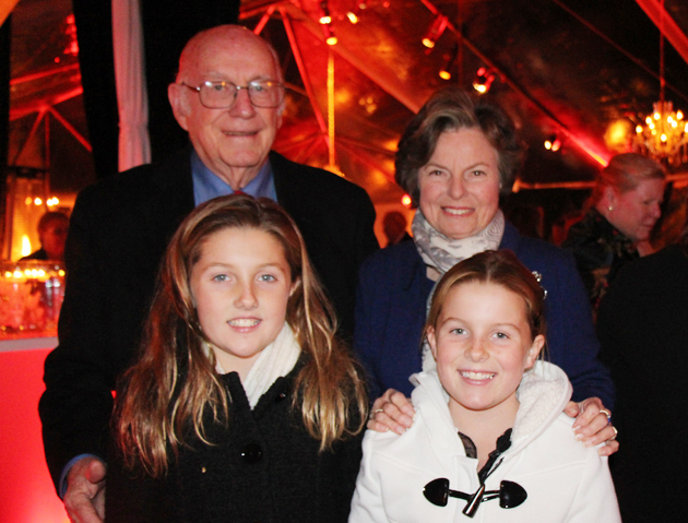 Ed and Judy Hartfeld with granddaughters McKenna and Morgan Maloney.