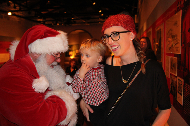Christina and Jackson Bentley, 23 months, with Santa Claus.