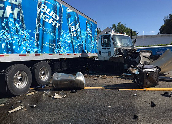 The California Highway Patrol was investigating a head-on collision between a pickup truck and a semi truck on Highway 154 in Los Olivos.