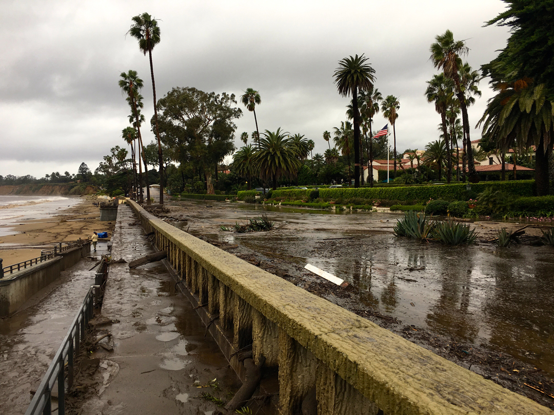 Channel Drive near the Biltmore Hotel is a mess after Tuesday's flash flooding.