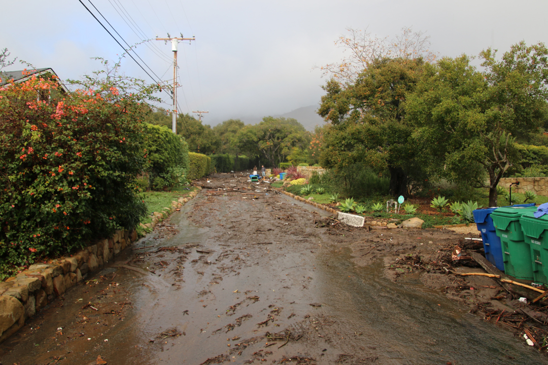 El Bosque Road is a muddy mess.