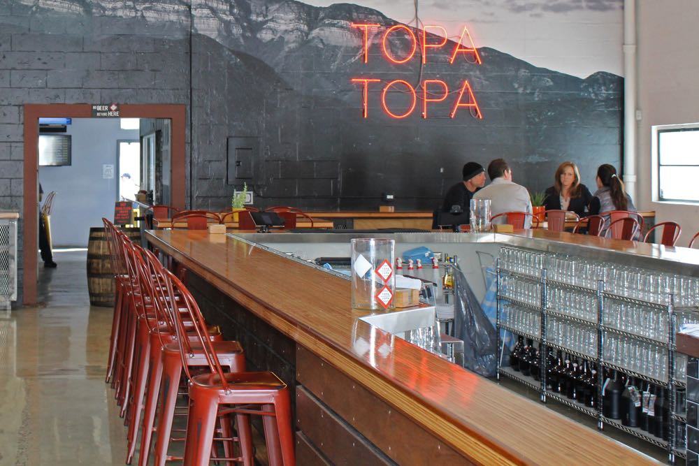 Ventura-based Topa Topa Brewing Co. opened in the Waterline in Santa Barbara's Funk Zone in late 2016, and is one of two beer purveyors in the project at 120 Santa Barbara St., along with Lama Dog Tap Room & Bottle Shop.