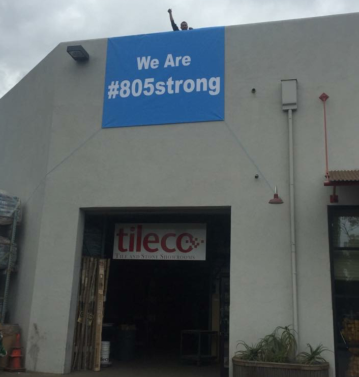 Tileco's sign on its Santa Barbara building.