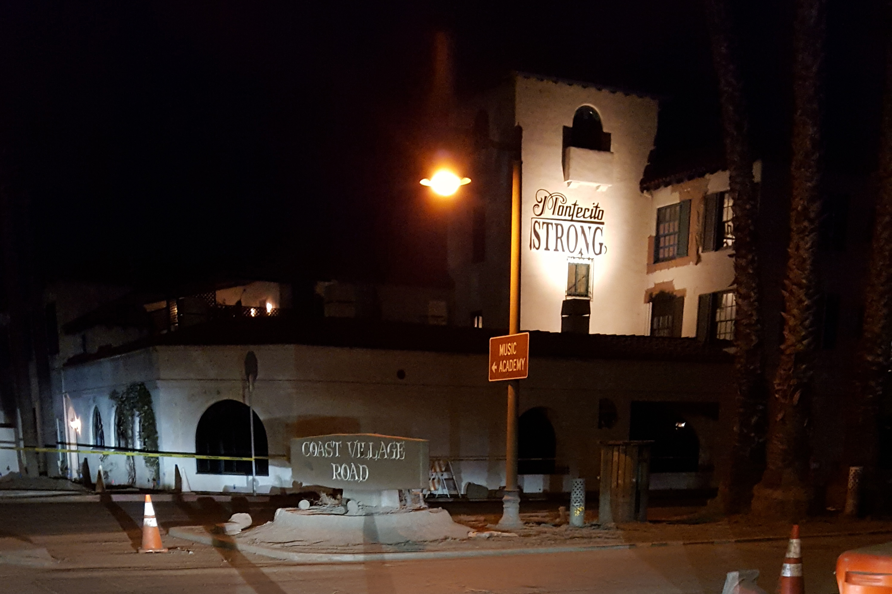 "The Montecito Inn on Coast Village Road altered its sign to ""Montecito Strong"" after the Jan. 9 mudslides and flooding."