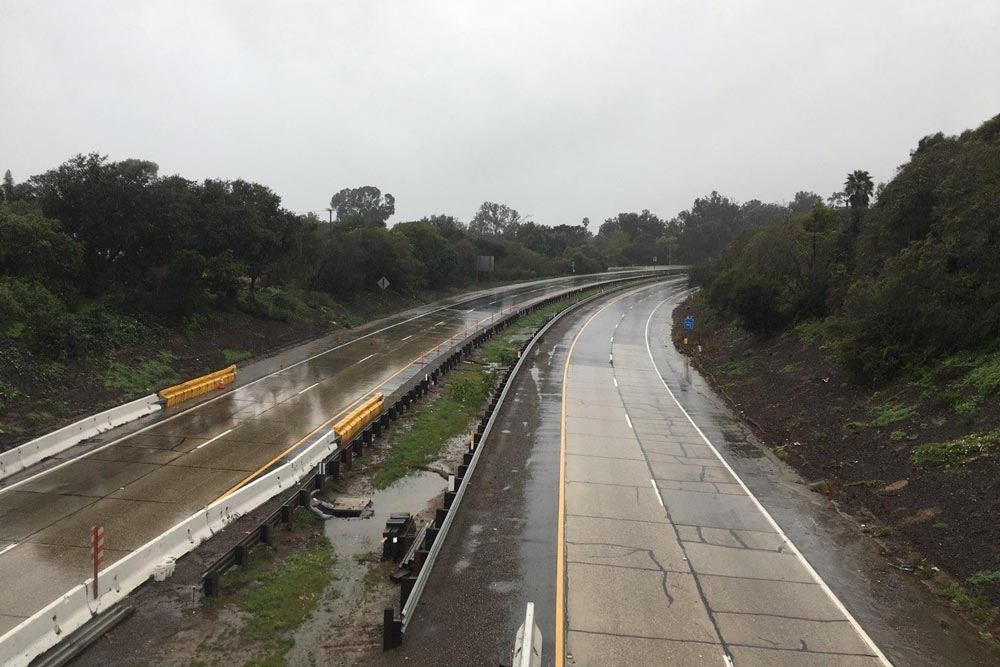 Flash Flood Warning Issued, Highway 101 Closed as Heavy
