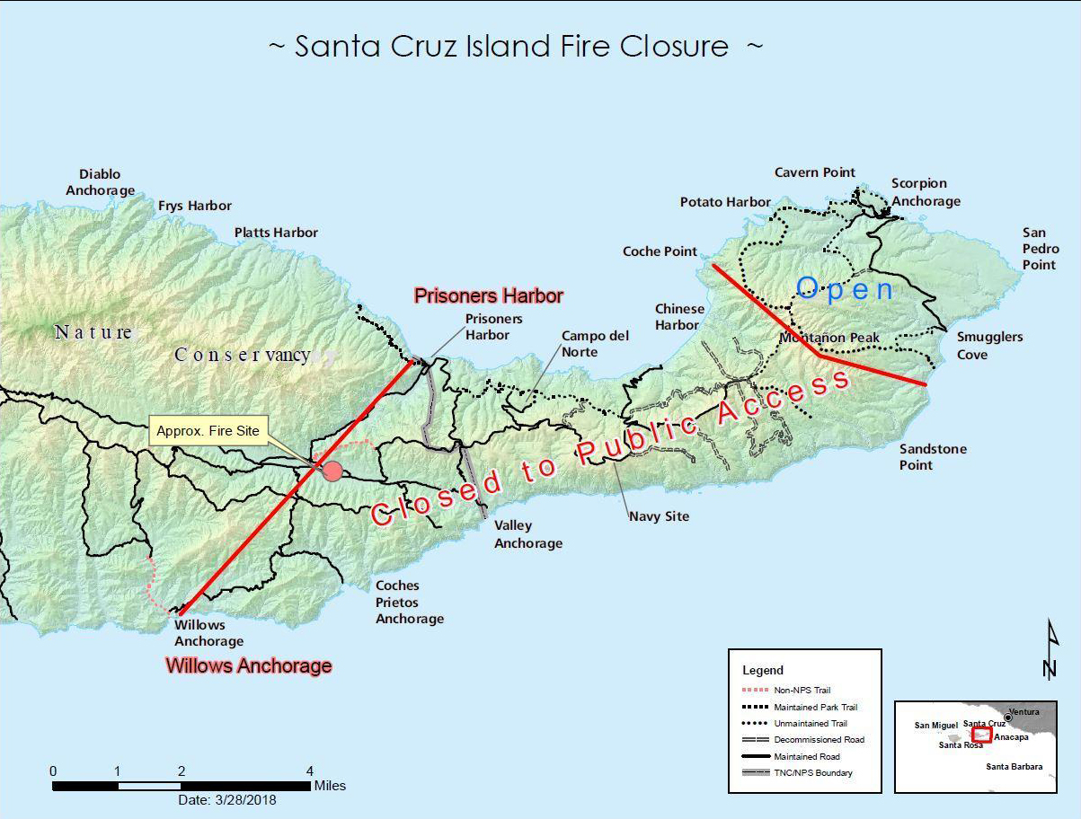Santa Cruz Island Wildfire Reaches 60% Containment | Local