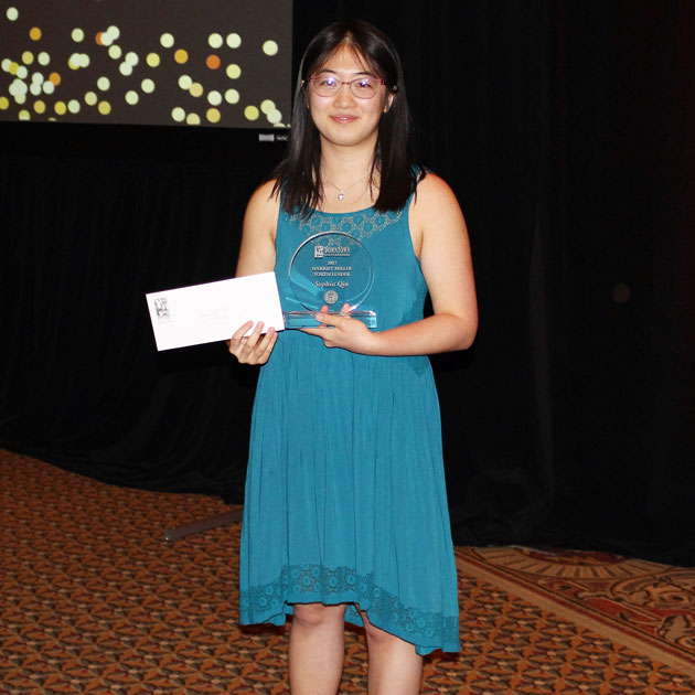 Sophia Qin, a senior at Dos Pueblos High School, received the Harriet Miller Youth Leader Scholarship Award from Downtown Santa Barbara.