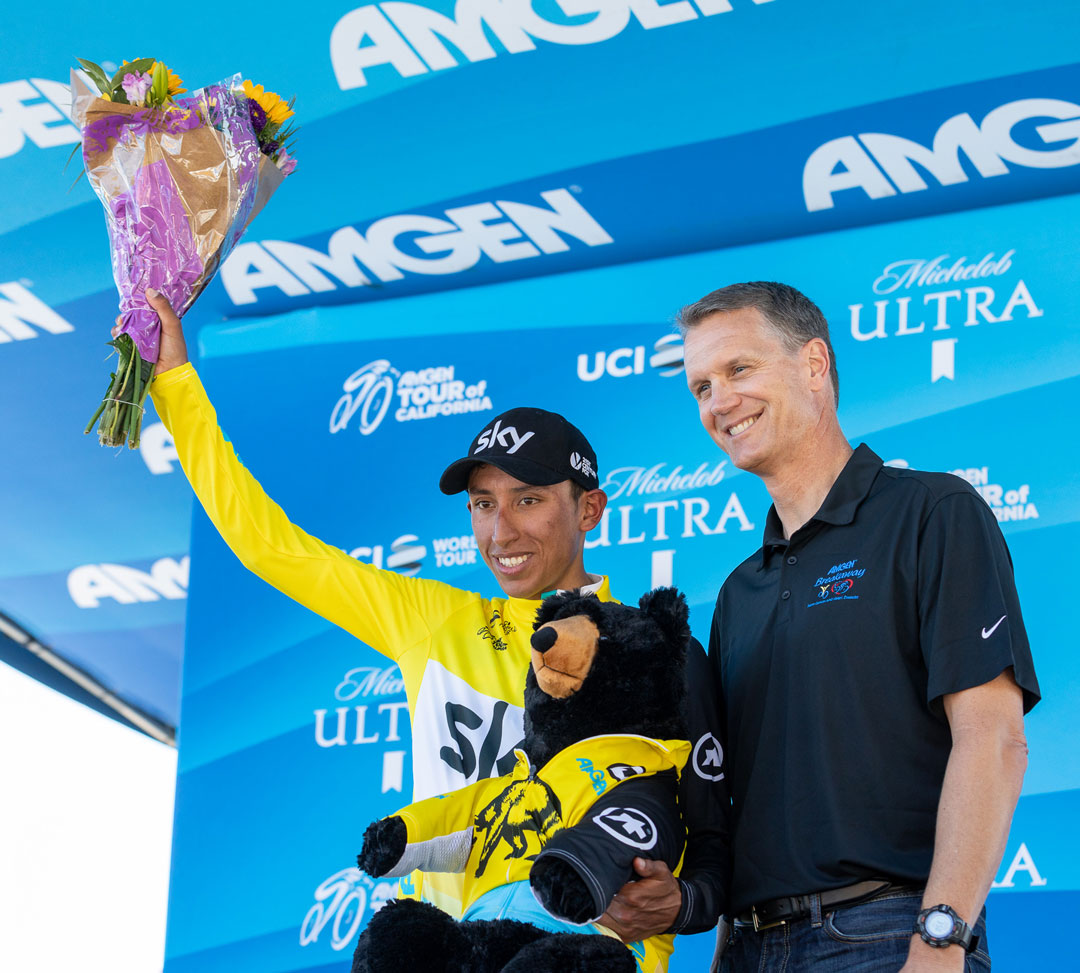 Adam Yates finishes third in second stage of Tour of California