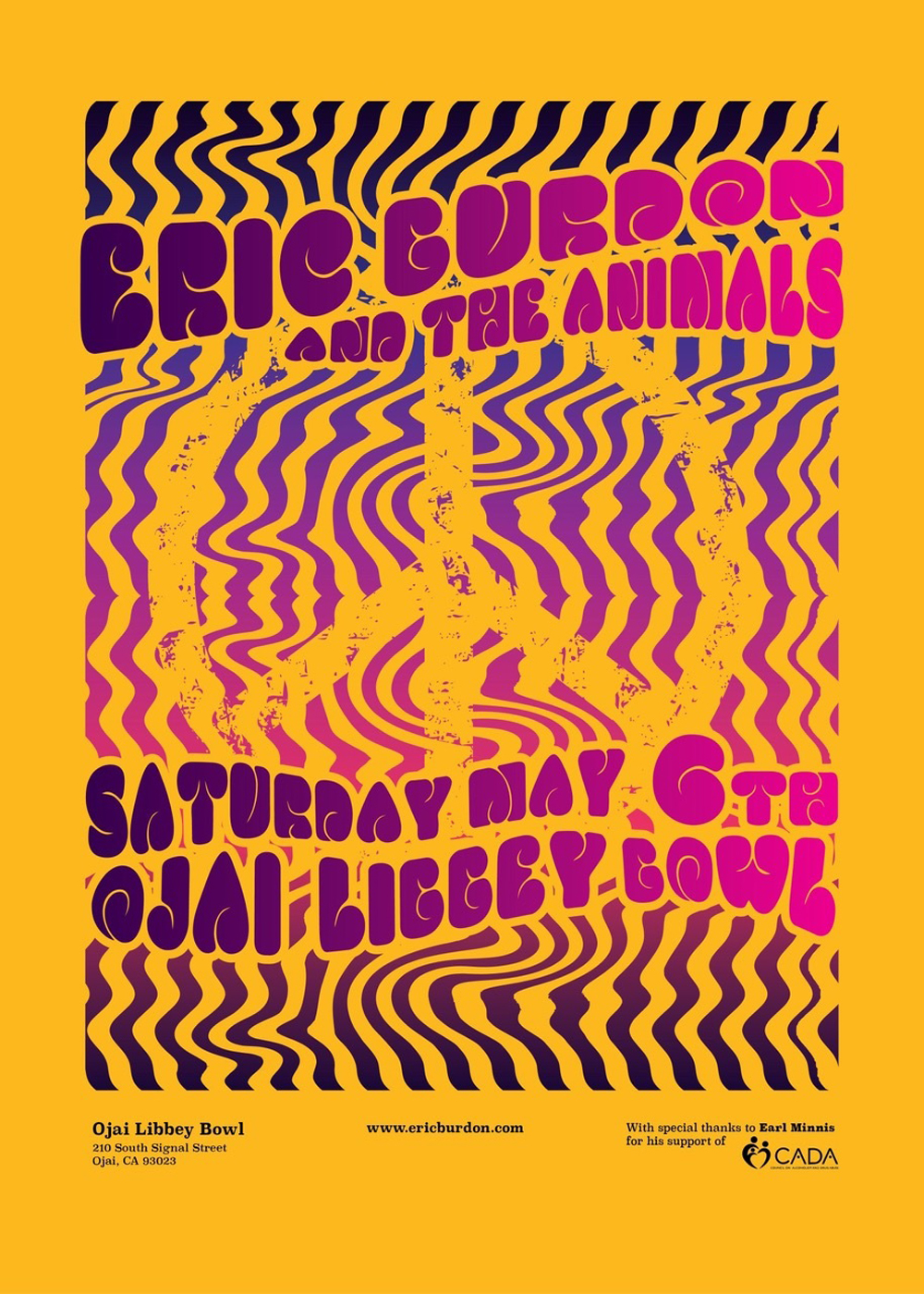 Eric Burdon and The Animals reigned from 1963 to 1969.