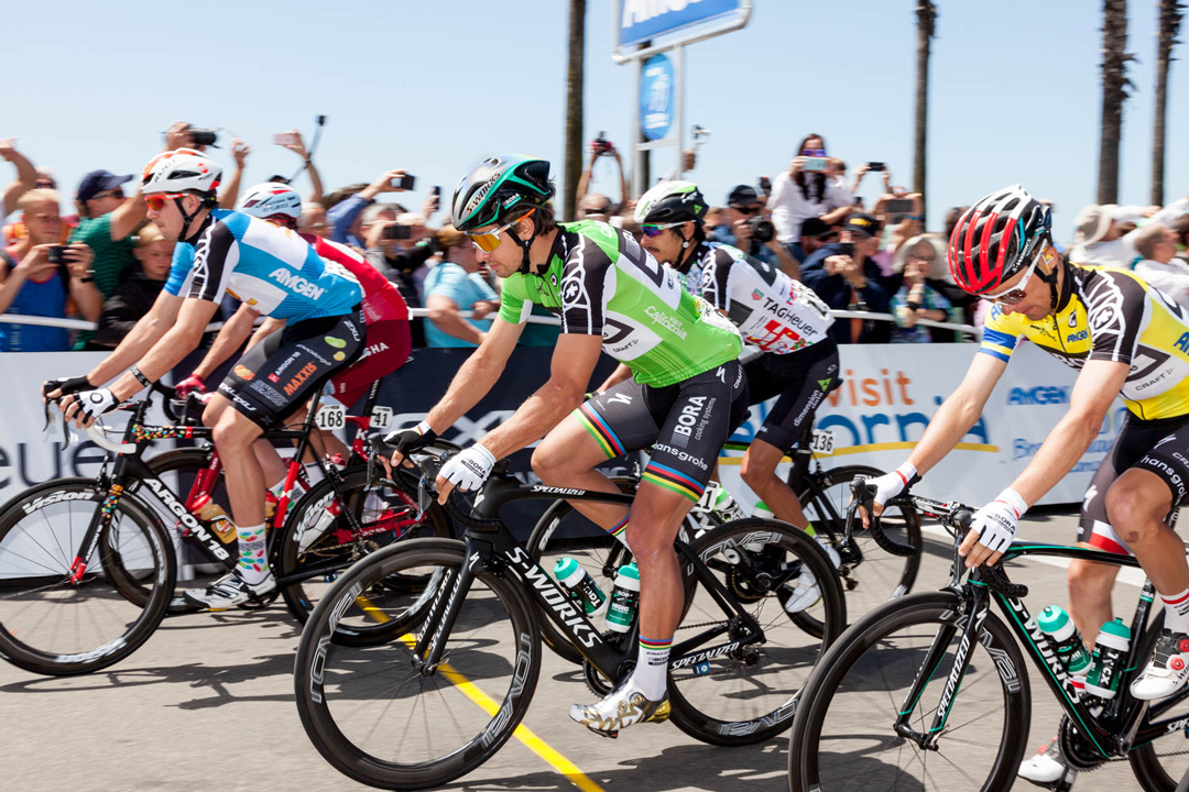 Sagan wins third stage in California