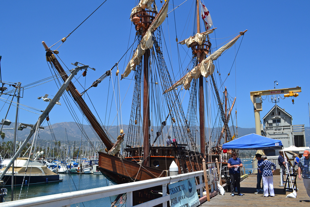The San Salvador was designed and built by the Maritime Museum of San Diego to be a replica of Juan Rodriguez Cabrillo's ship, which was the first recorded European vessel to sail along California and survey the coastline, according to the museum.