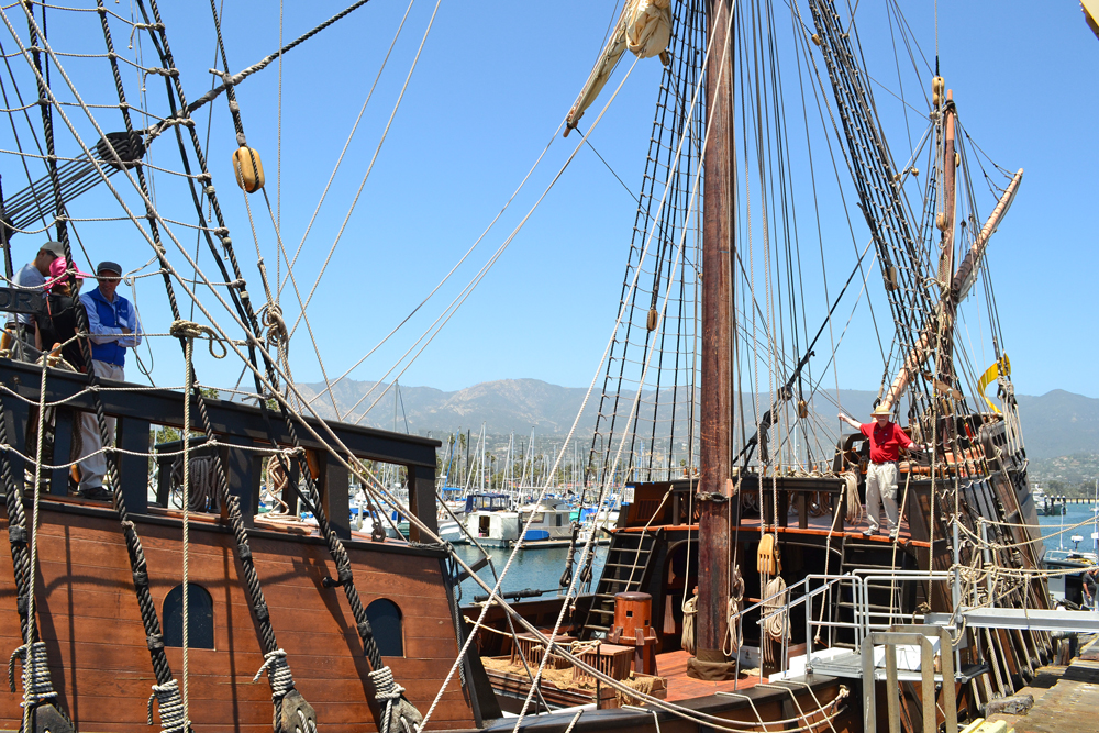 The San Salvador sailed to Santa Barbara from San Diego and is available for public tours through Monday.