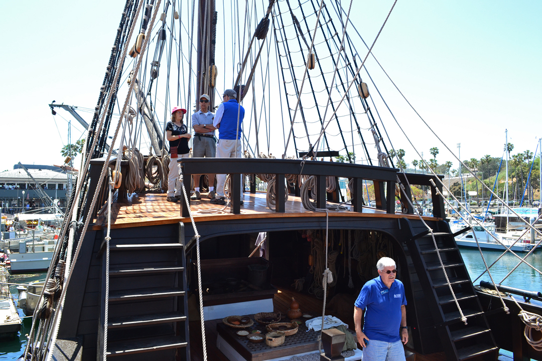 The San Salvador is docked in the Santa Barbara Harbor and is available for public tours through Monday. <br />