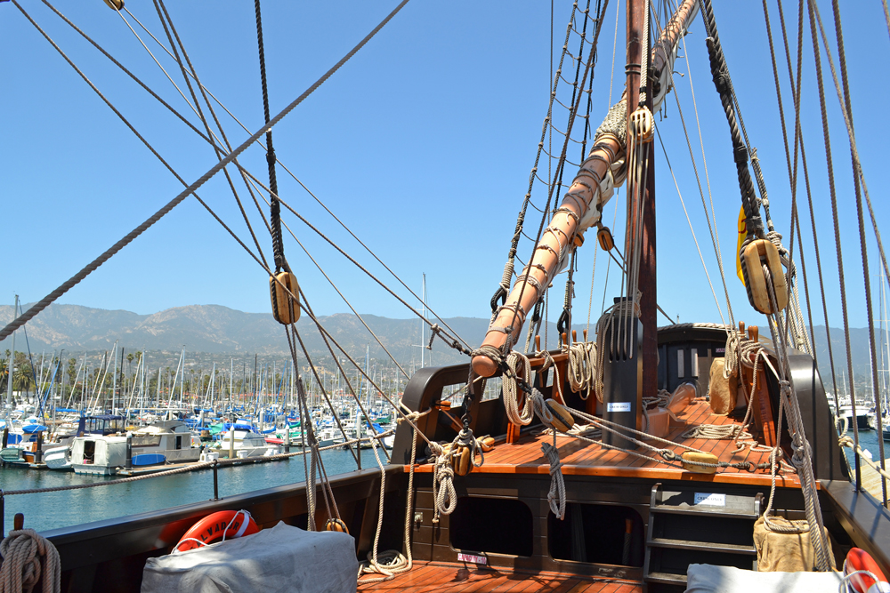 The San Salvador sailed to Santa Barbara from San Diego and is available for public tours through Monday. <br />