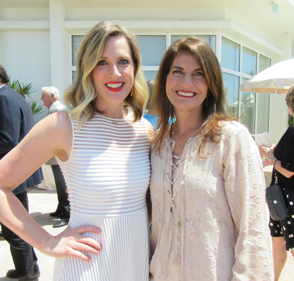 Event sponsors Bridget McIntyre, left, and Theresa Borgatello of MarBorg Industries.