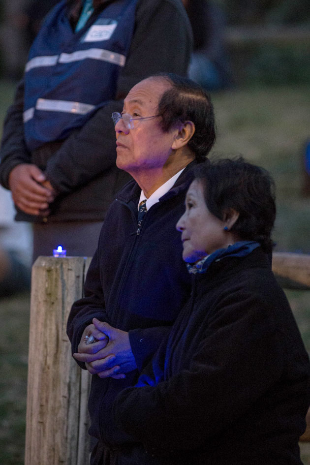 UC Santa Barbara Chancellor Hendry Yang and his wife, Dilling, attended Tuesday night's ceremony in Isla Vista.