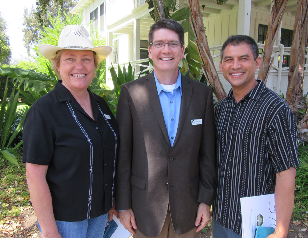 EDC board president Judy Perkowitz, left, EDC Executive Director Owen Blair and Santa Barbara County Supervisor Das Williams.