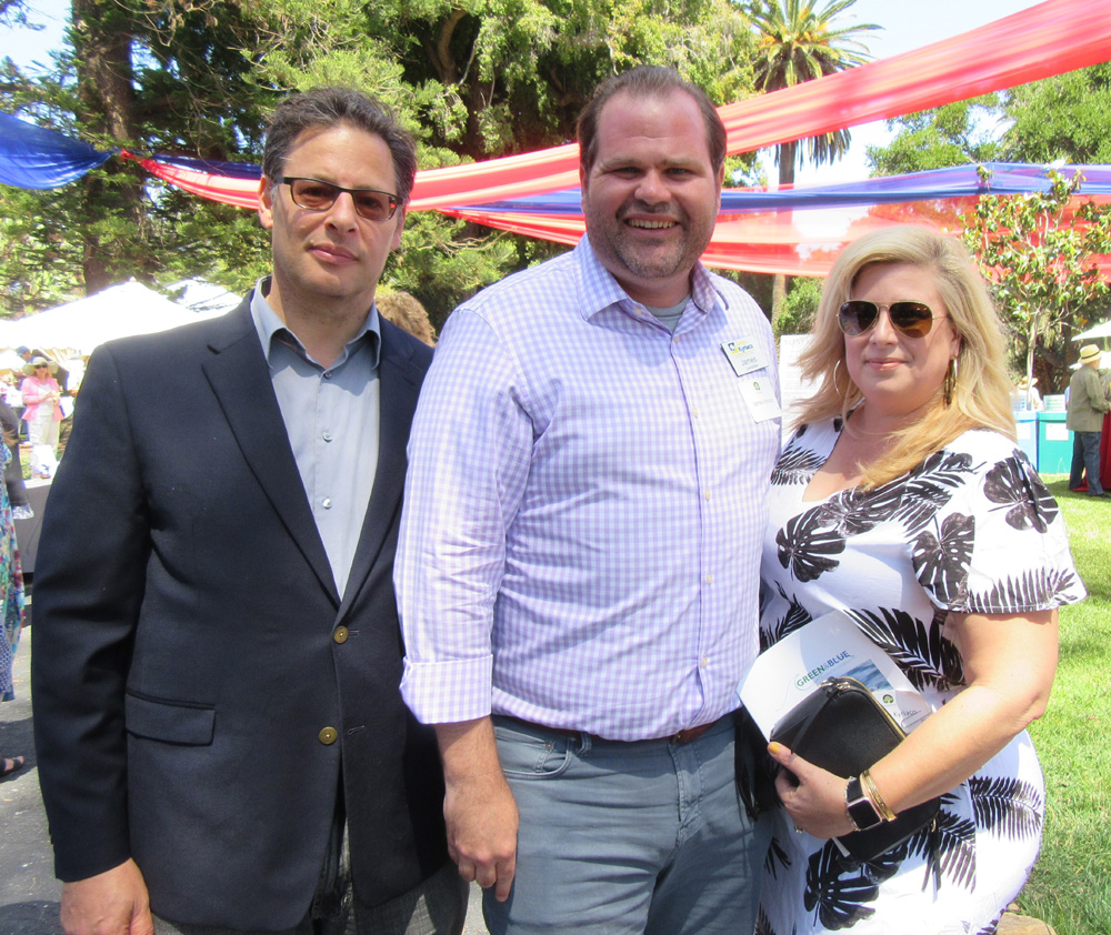 Goleta City Councilman Stuart Kasdin, left, with City Council candidate James Kyriaco and Angie Kyriaco.
