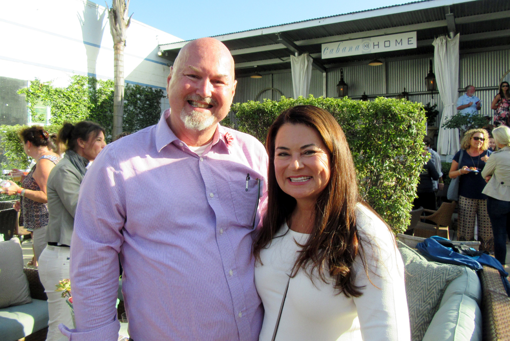 John Bowlin, PATH's associate director of development and volunteers, and board member Nancy Fiore were major forces in organizing the Making It Home Tour fundraiser Saturday for PATH of Santa Barbara.