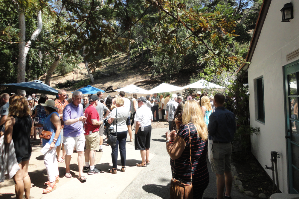 Attendees sip and taste their way around the Santa Barbara Wine + Food Festival.