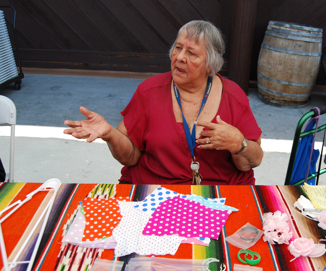 Santa Barbara native and seamstress Gloria Macartney has been making handmade children's flamenco printed dresses for more than 35 years.