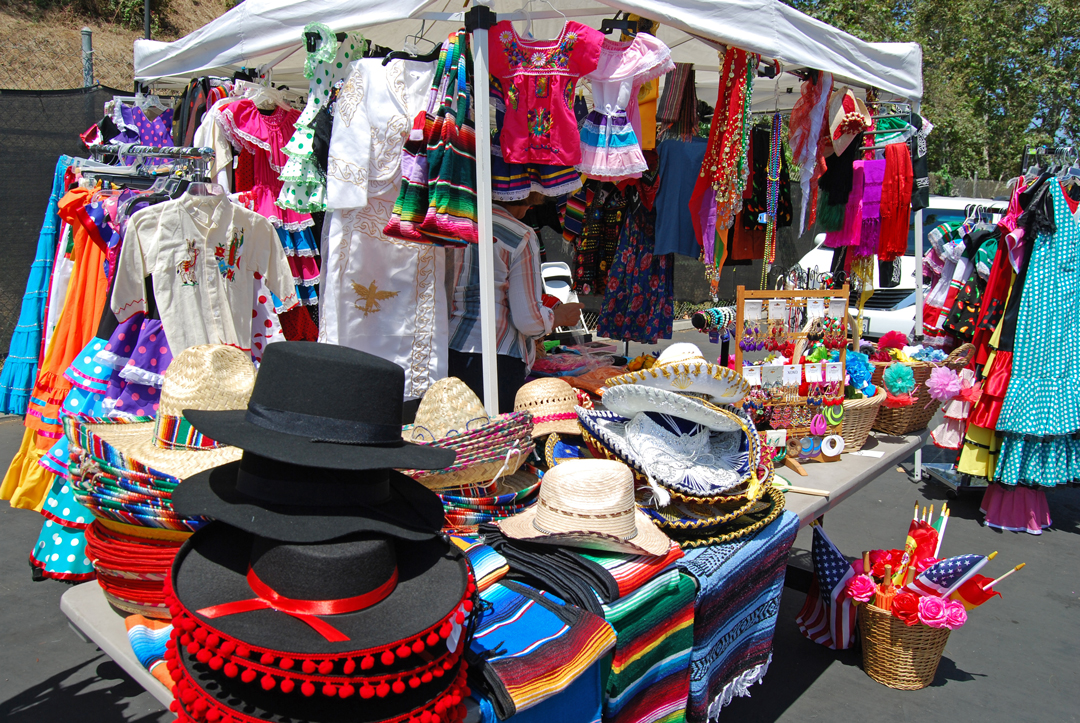 Colorful outfits filled Santa Barbara's Carriage and Western Art Museum parking lot last weekend at Old Spanish Day's annual Fiesta costume sale.