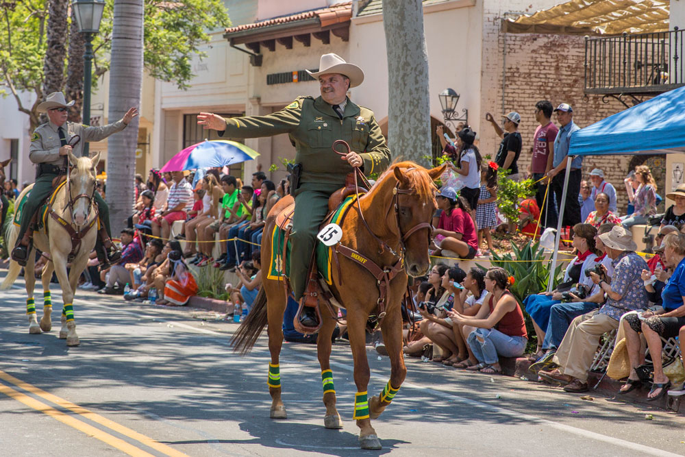 Santa Barbara County Sheriff Bill Brown was part of his department's Mounted Unit in the parade.