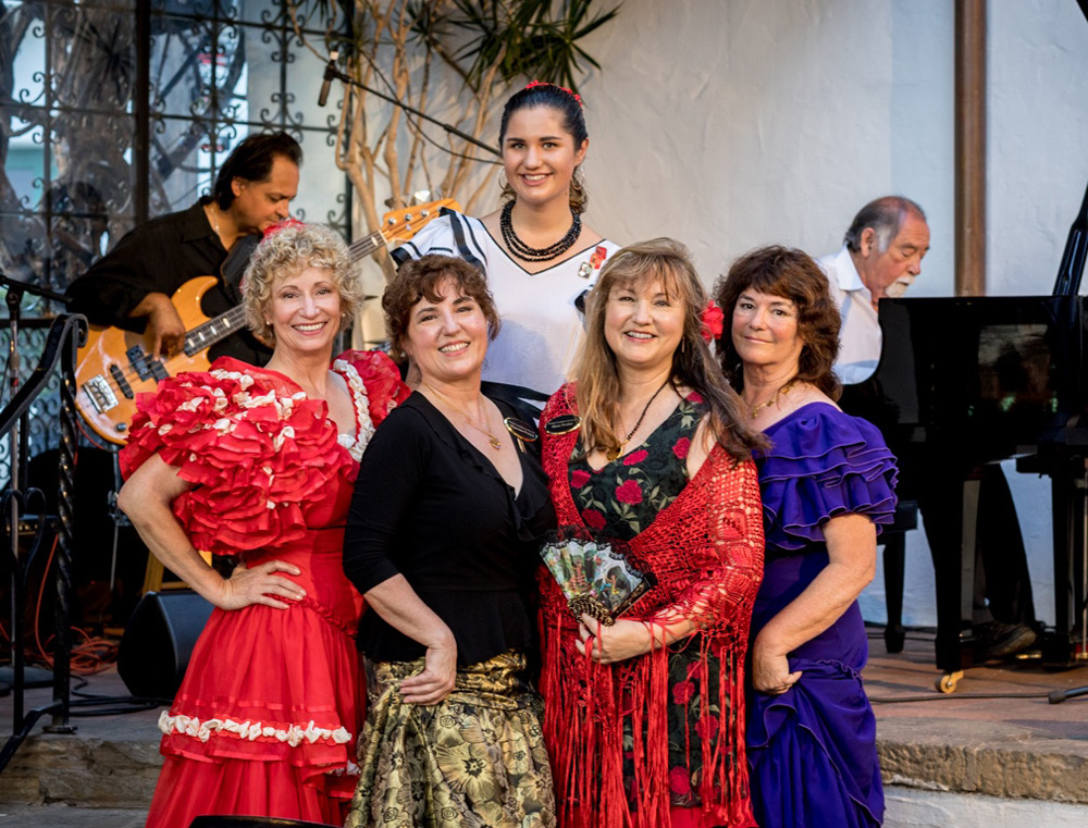 The Profant family, from left, Musette, Mignonne, Marie, Michele and Malia Profant Jungart at The Profant Foundation for the Arts' Fiesta Finale Gala on Sunday at El Paseo Restaurant in Santa Barbara.