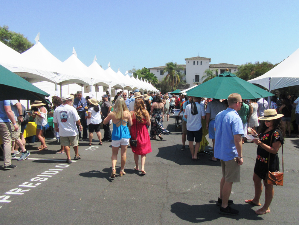 The Presidio parking lot was transformed into a festival party.