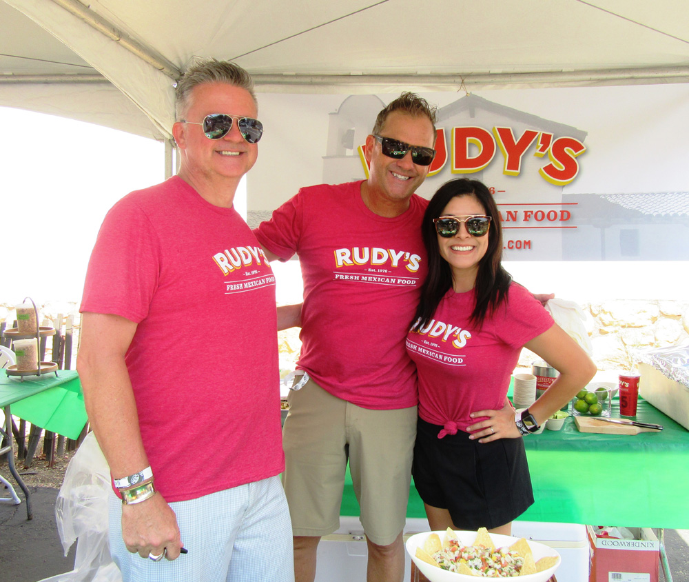 It was a family affair at the Rudy's Mexican Restaurant booth: Malcolm, Neal and Andrea Stewart.