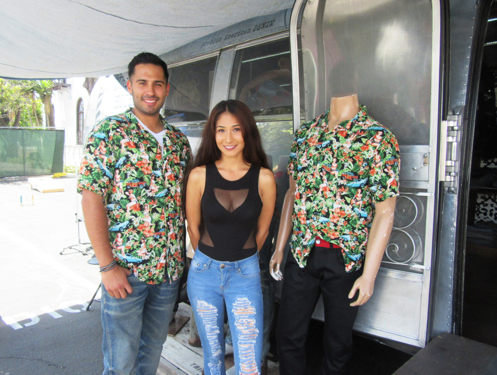 Samuel Quintara and Jacqueline Drexler brought the Trinidad clothing showroom to Fork Fest in a vintage trailer.