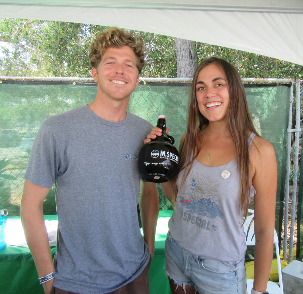 Mitchell Johnson and Destiny Hoerberg of M. Special Brewing.
