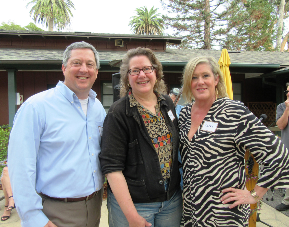 Nate Cultice, left, sponsor Sharon Kennedy and Kerry White.