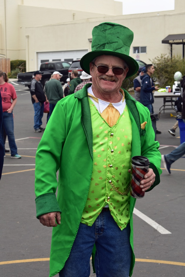 David Allen of Guadalupe shows off his St. Patrick's Day duds.